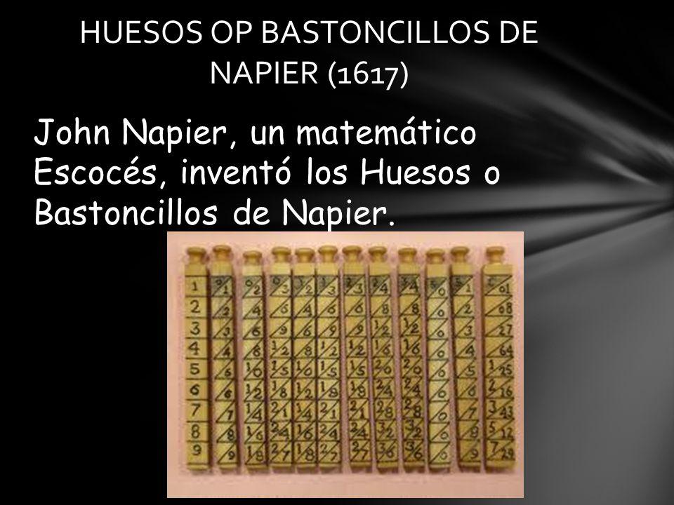 HUESOS OP BASTONCILLOS DE NAPIER (1617)