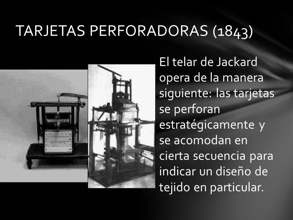 TARJETAS PERFORADORAS (1843)