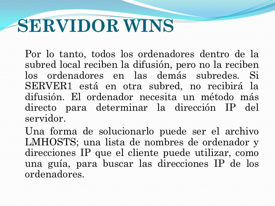 SERVIDOR WINS