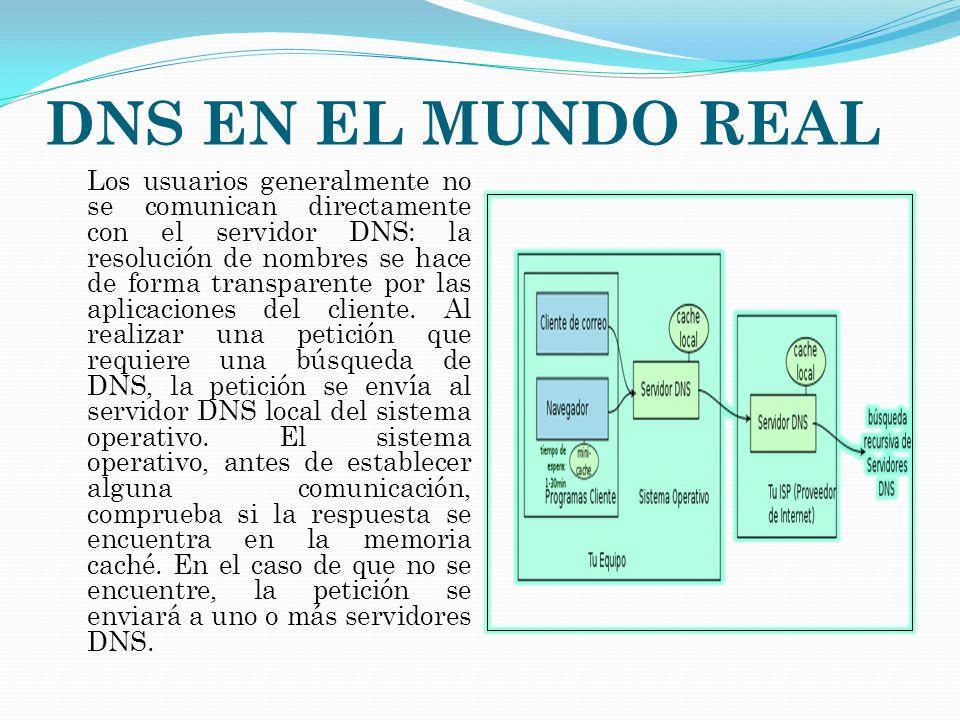 DNS EN EL MUNDO REAL