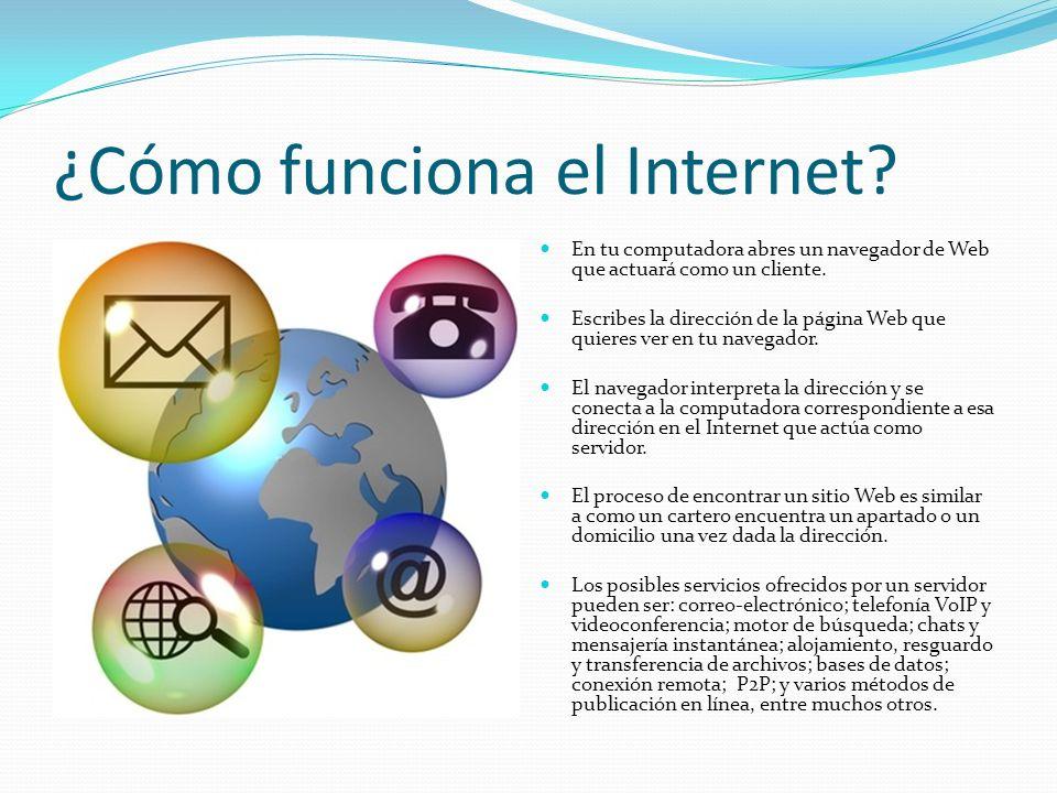 ¿Cómo funciona el Internet