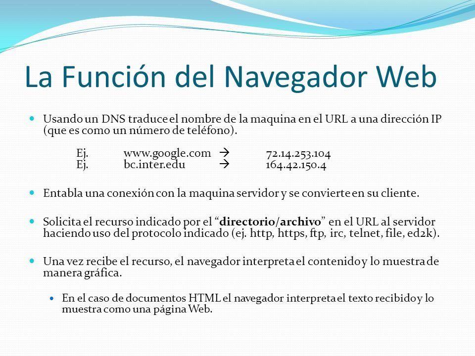La Función del Navegador Web