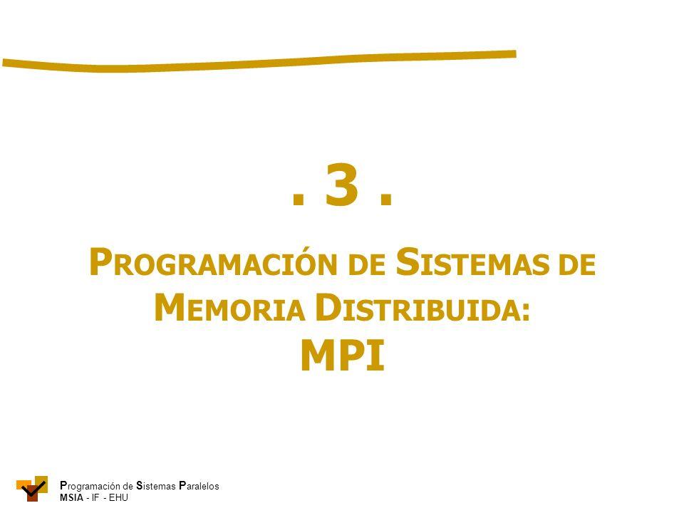 PROGRAMACIÓN DE SISTEMAS DE MEMORIA DISTRIBUIDA: