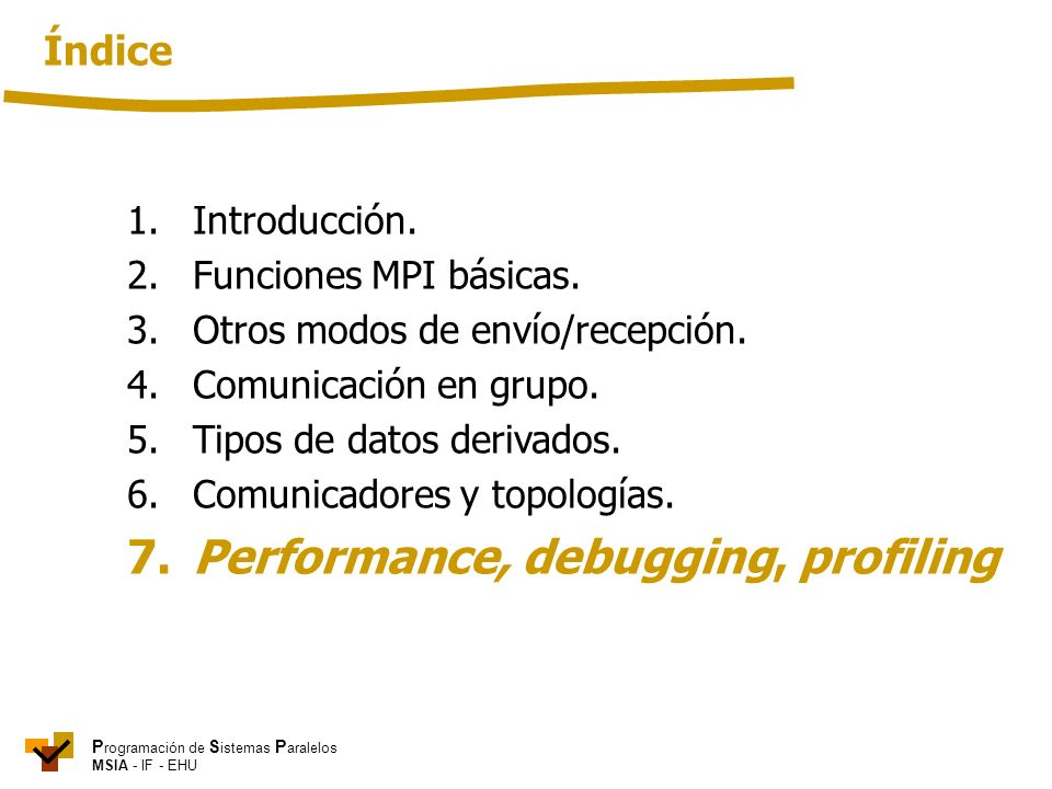 7. Performance, debugging, profiling