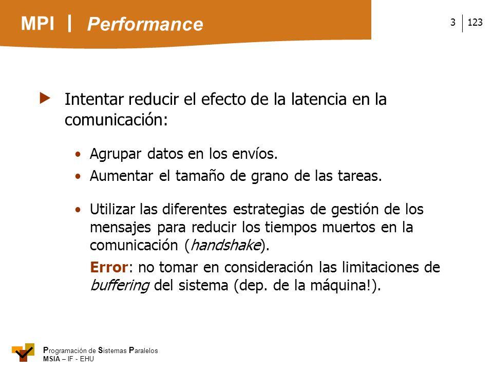 Intentar reducir el efecto de la latencia en la comunicación: