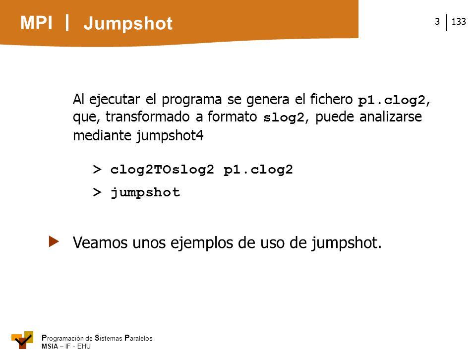  Veamos unos ejemplos de uso de jumpshot.