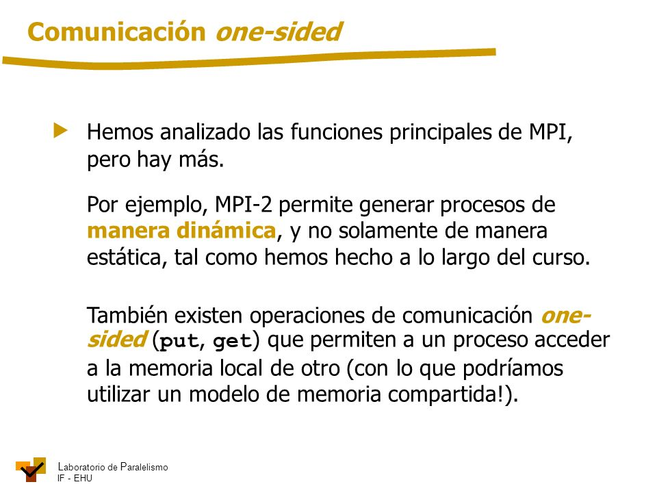 Comunicación one-sided