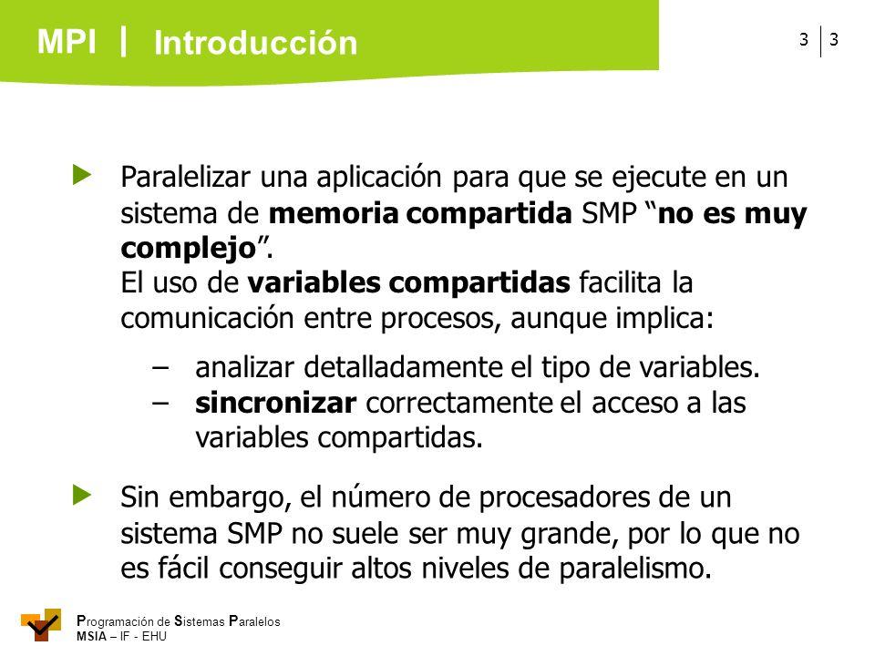 Introducción  Paralelizar una aplicación para que se ejecute en un sistema de memoria compartida SMP no es muy complejo .