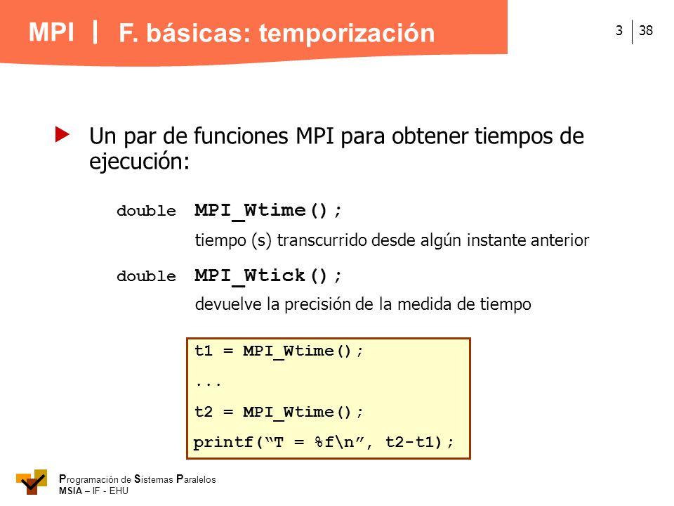 F. básicas: temporización