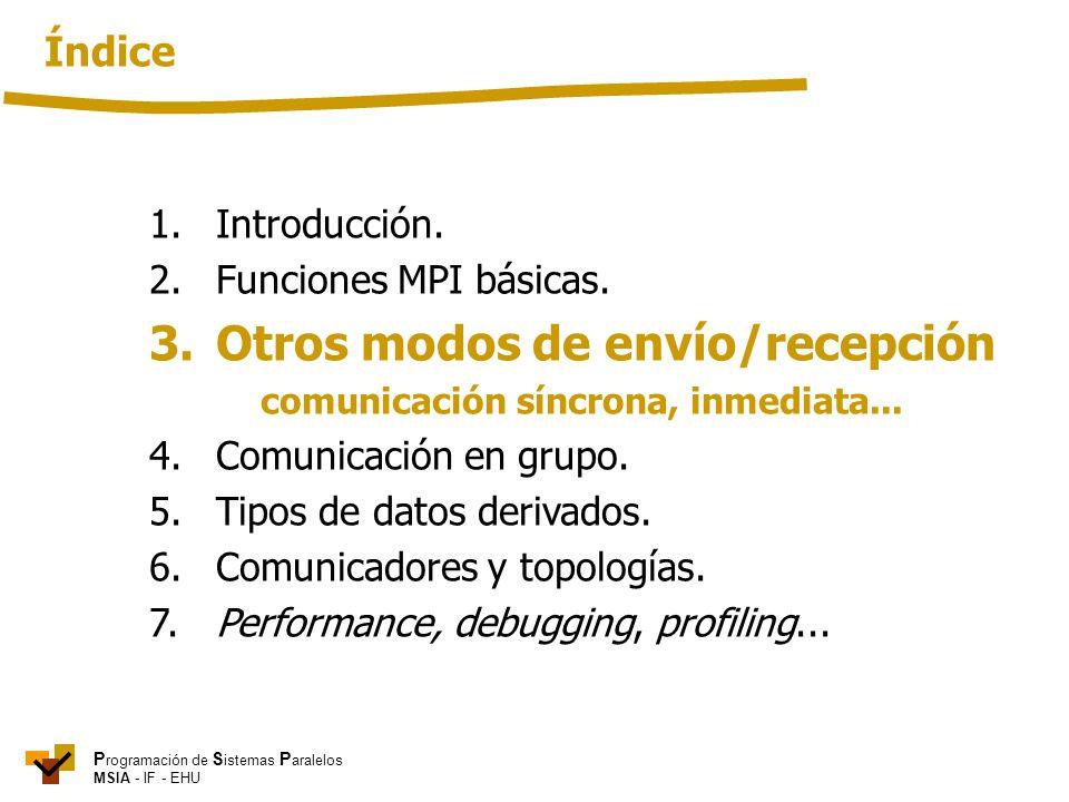 3. Otros modos de envío/recepción