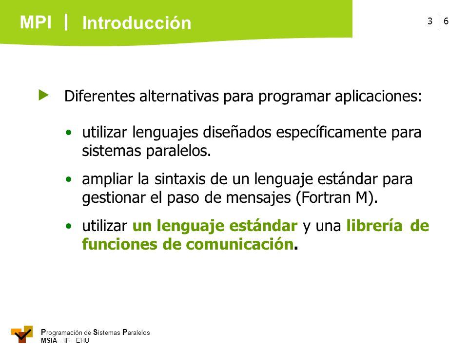  Diferentes alternativas para programar aplicaciones: