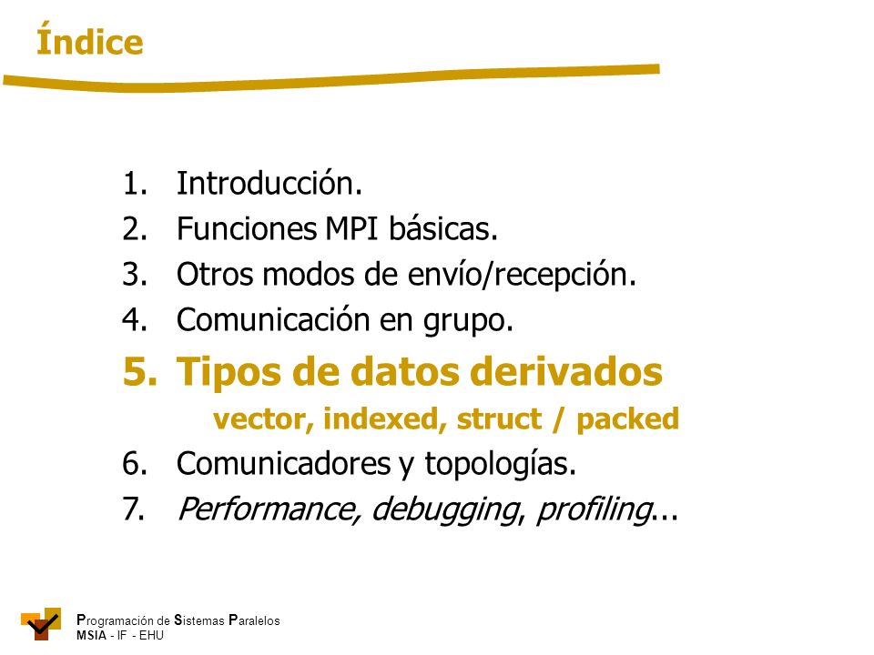 5. Tipos de datos derivados