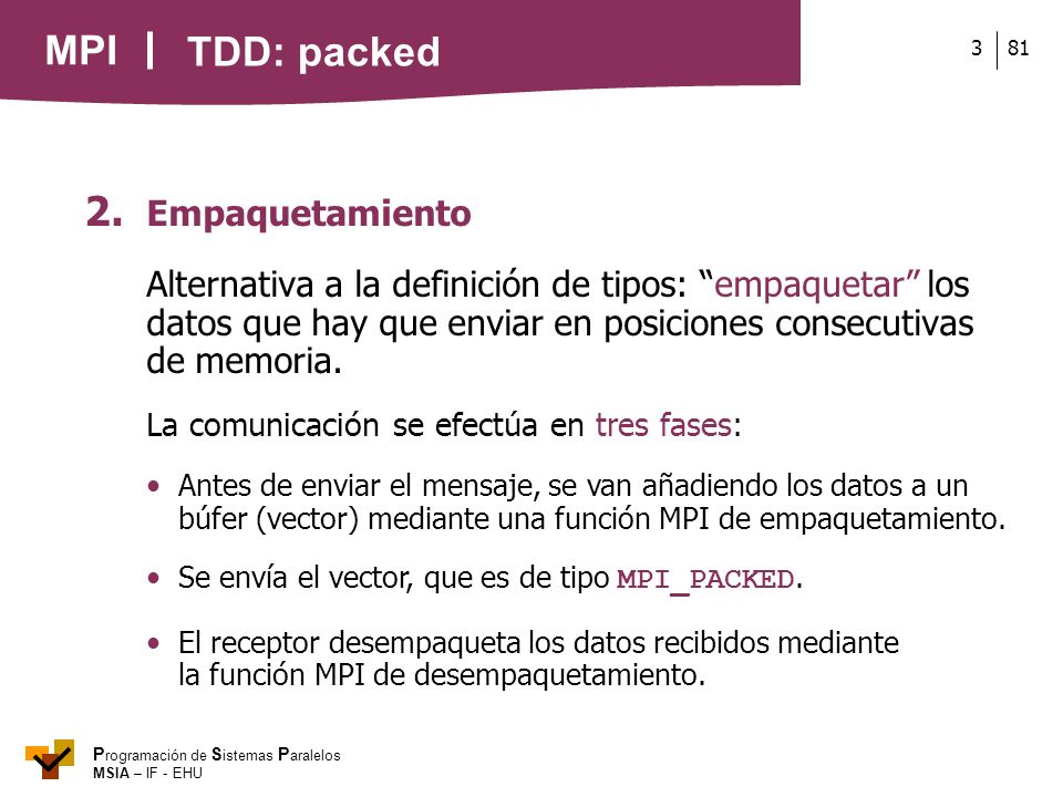 TDD: packed 2. Empaquetamiento
