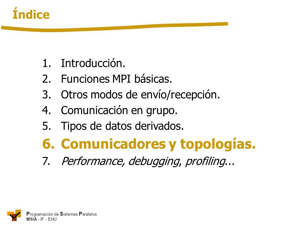 6. Comunicadores y topologías.