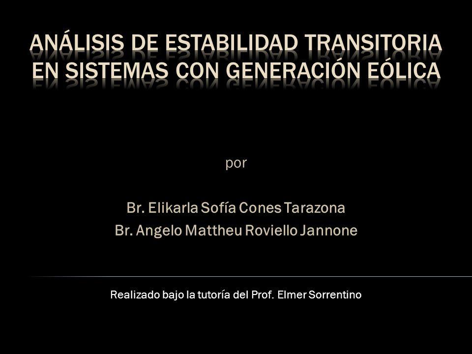 ANÁLISIS DE ESTABILIDAD TRANSITORIA EN SISTEMAS CON GENERACIÓN EÓLICA