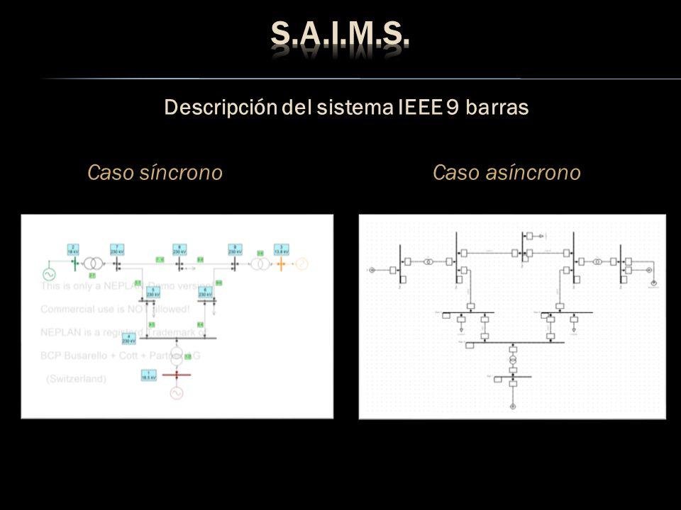 Descripción del sistema IEEE 9 barras