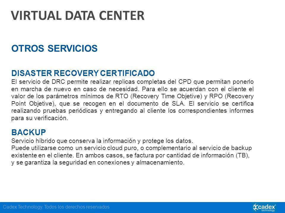 VIRTUAL DATA CENTER OTROS SERVICIOS DISASTER RECOVERY CERTIFICADO