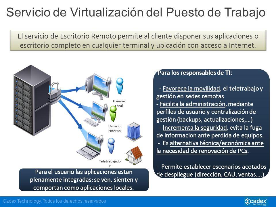 Servicio de Virtualización del Puesto de Trabajo