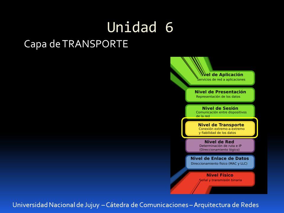 Unidad 6 Capa de TRANSPORTE