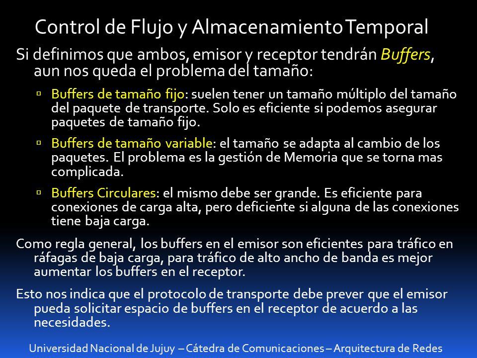 Control de Flujo y Almacenamiento Temporal