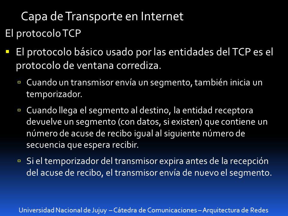 Capa de Transporte en Internet