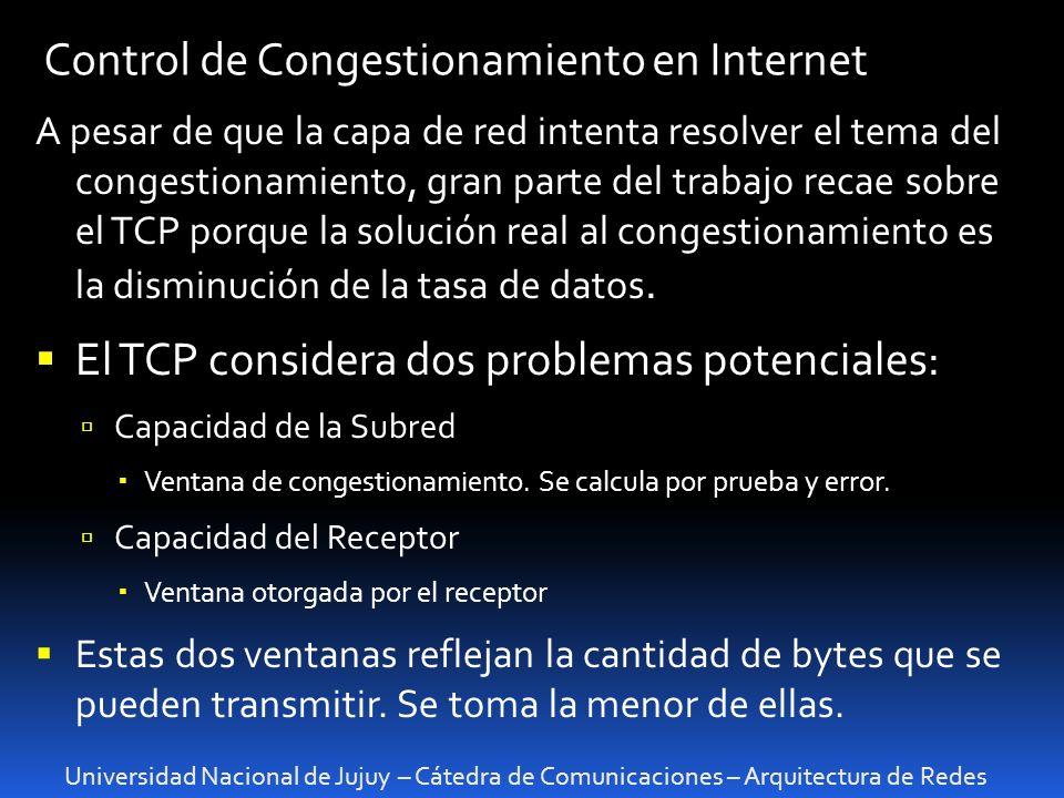 Control de Congestionamiento en Internet