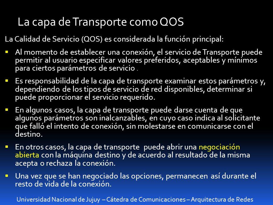 La capa de Transporte como QOS
