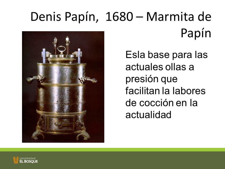 Denis Papín, 1680 – Marmita de Papín