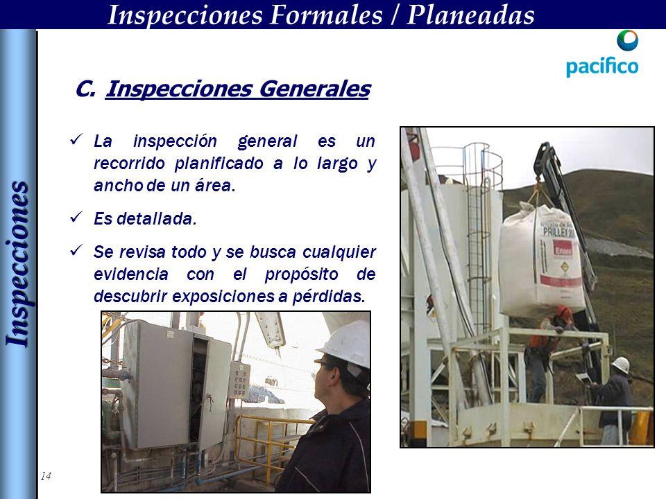Inspecciones Formales / Planeadas Inspecciones Generales