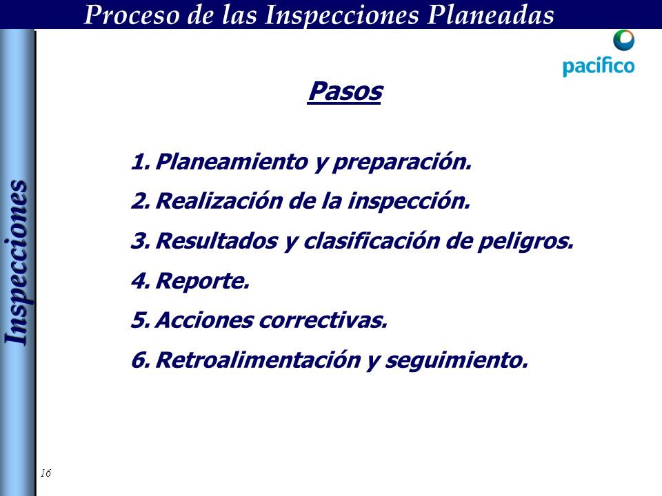 Proceso de las Inspecciones Planeadas