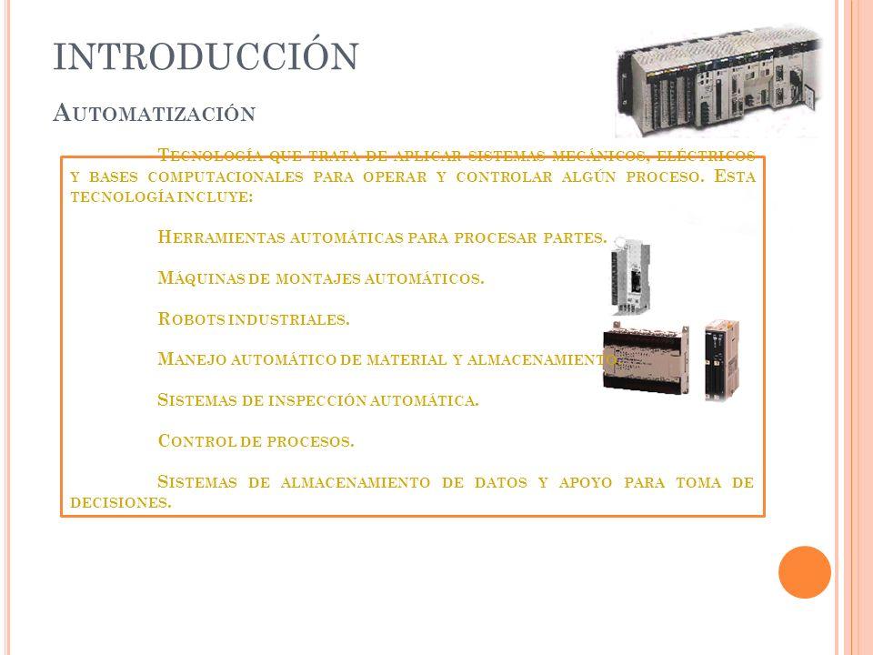 INTRODUCCIÓN Automatización