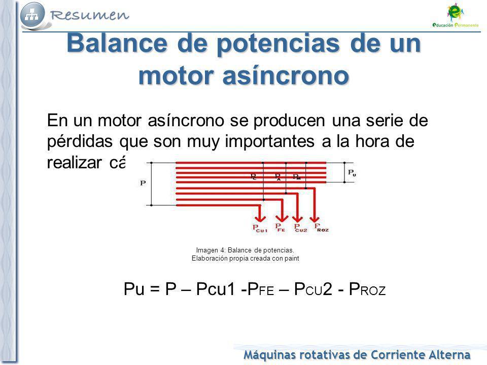 Balance de potencias de un motor asíncrono