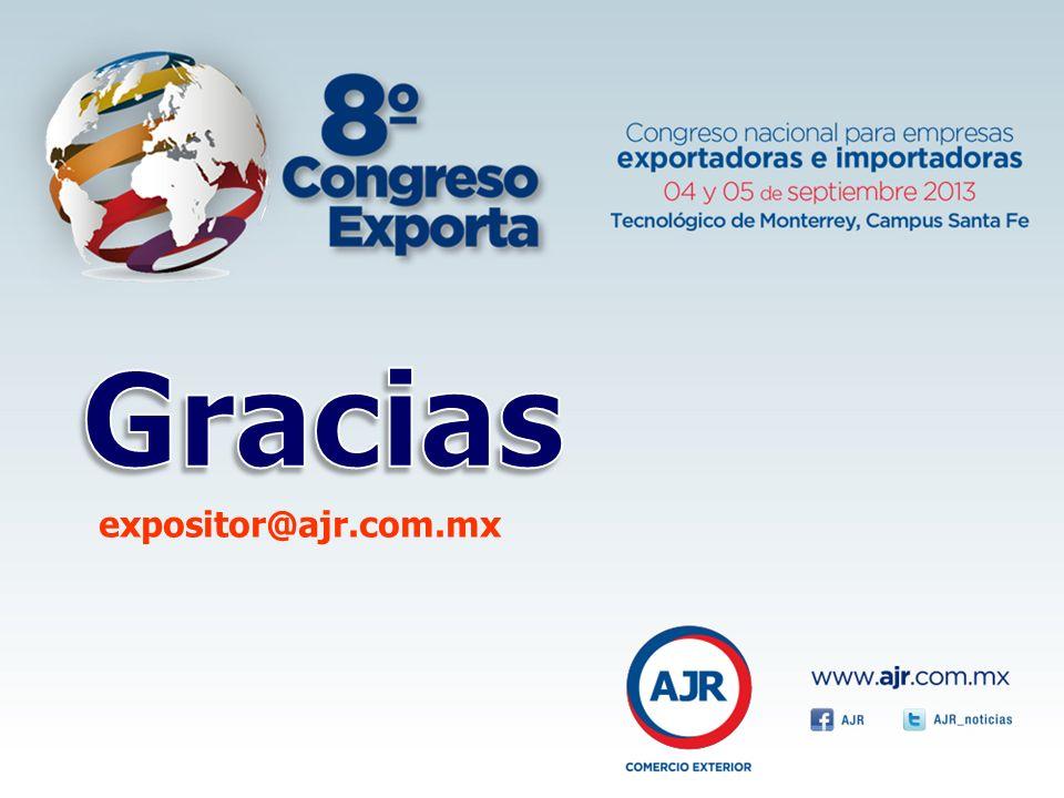 Gracias expositor@ajr.com.mx