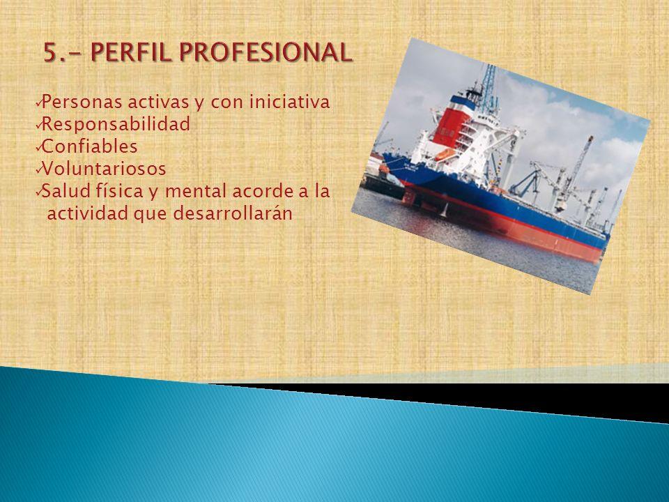 5.- PERFIL PROFESIONAL Personas activas y con iniciativa