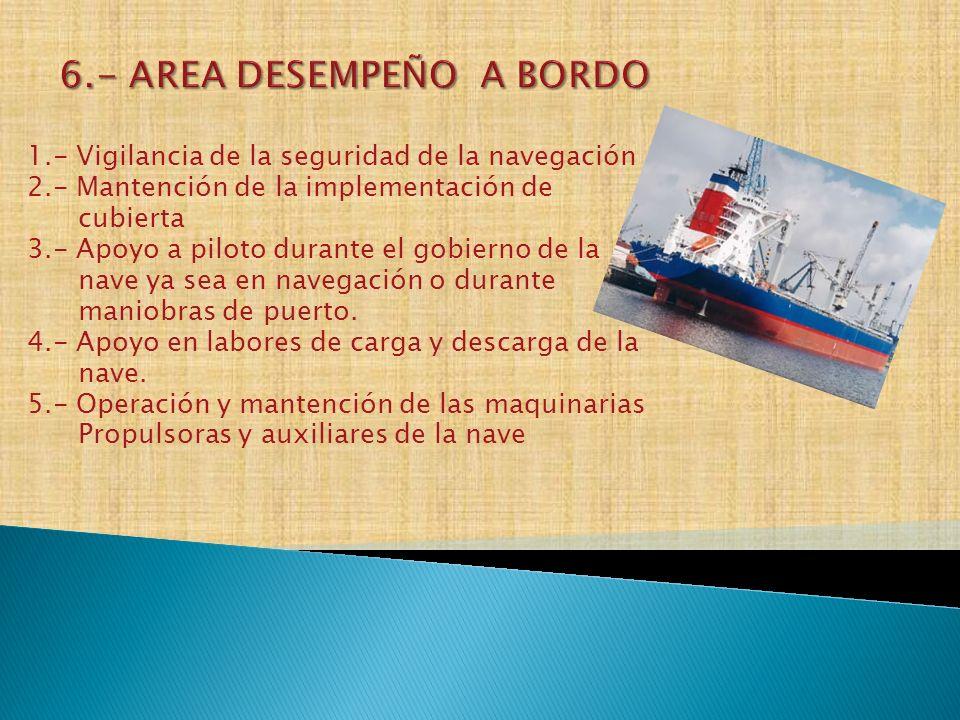 6.- AREA DESEMPEÑO A BORDO