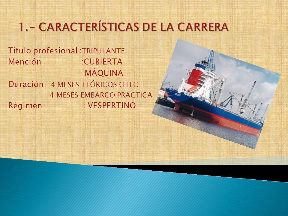 1.- CARACTERÍSTICAS DE LA CARRERA