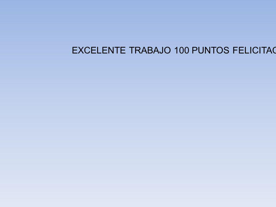 EXCELENTE TRABAJO 100 PUNTOS FELICITACIONES