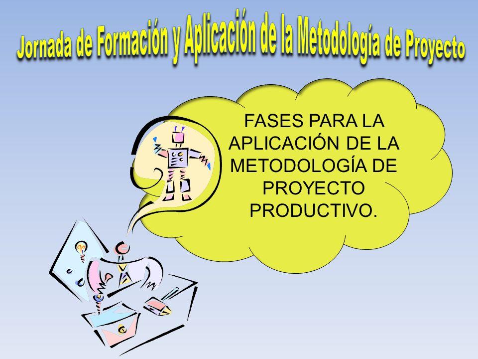 Jornada de Formación y Aplicación de la Metodología de Proyecto