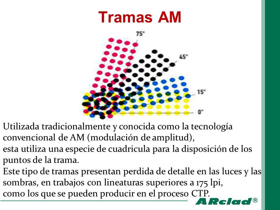Tramas AM Utilizada tradicionalmente y conocida como la tecnología convencional de AM (modulación de amplitud),