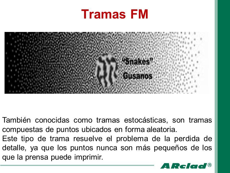 Tramas FM También conocidas como tramas estocásticas, son tramas compuestas de puntos ubicados en forma aleatoria.