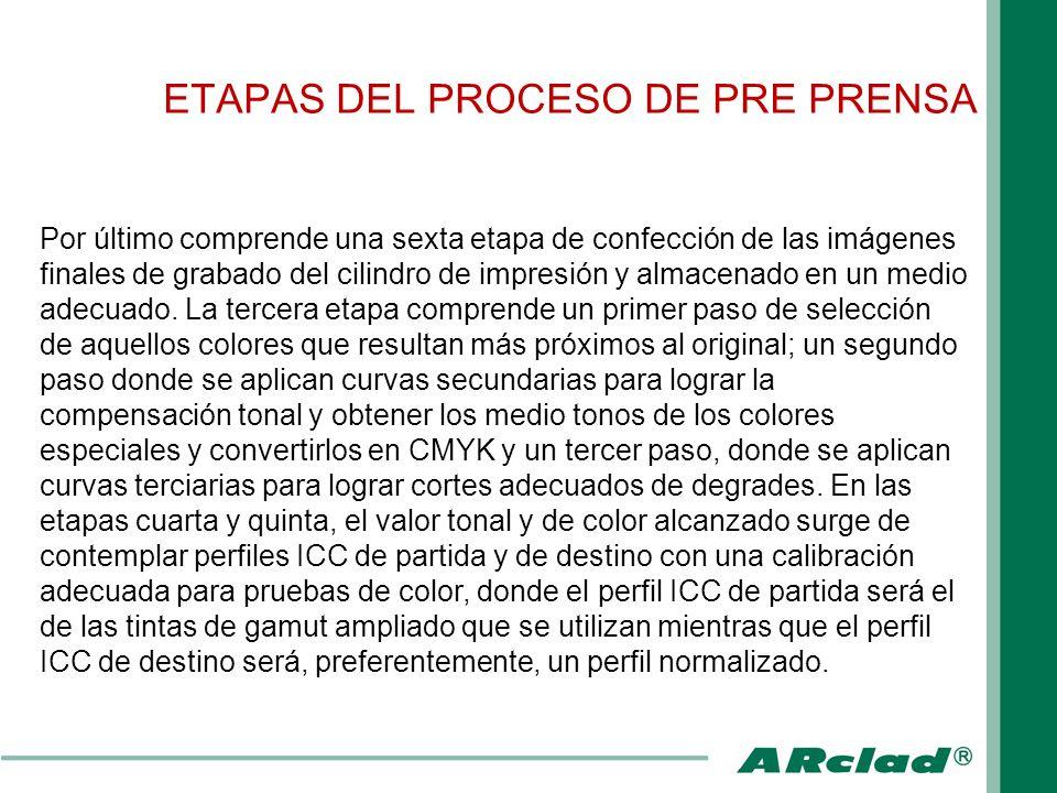 ETAPAS DEL PROCESO DE PRE PRENSA