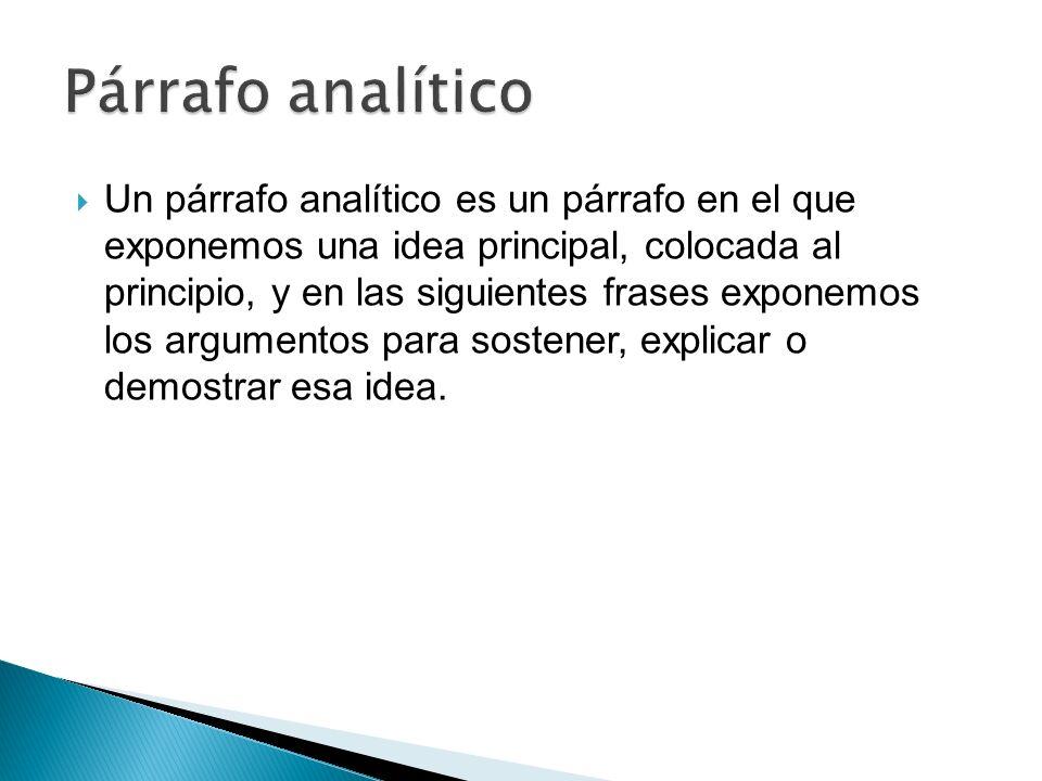 Párrafo analítico