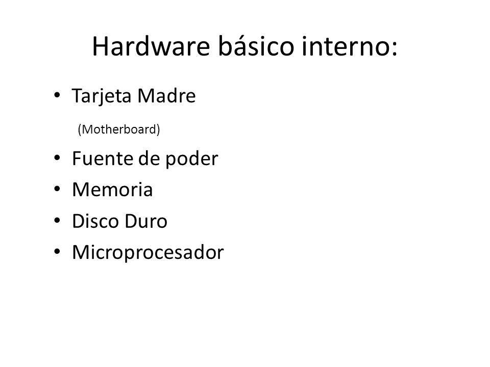 Hardware básico interno: