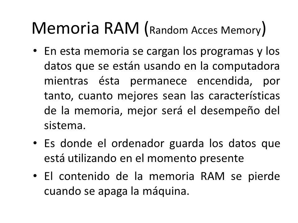 Memoria RAM (Random Acces Memory)