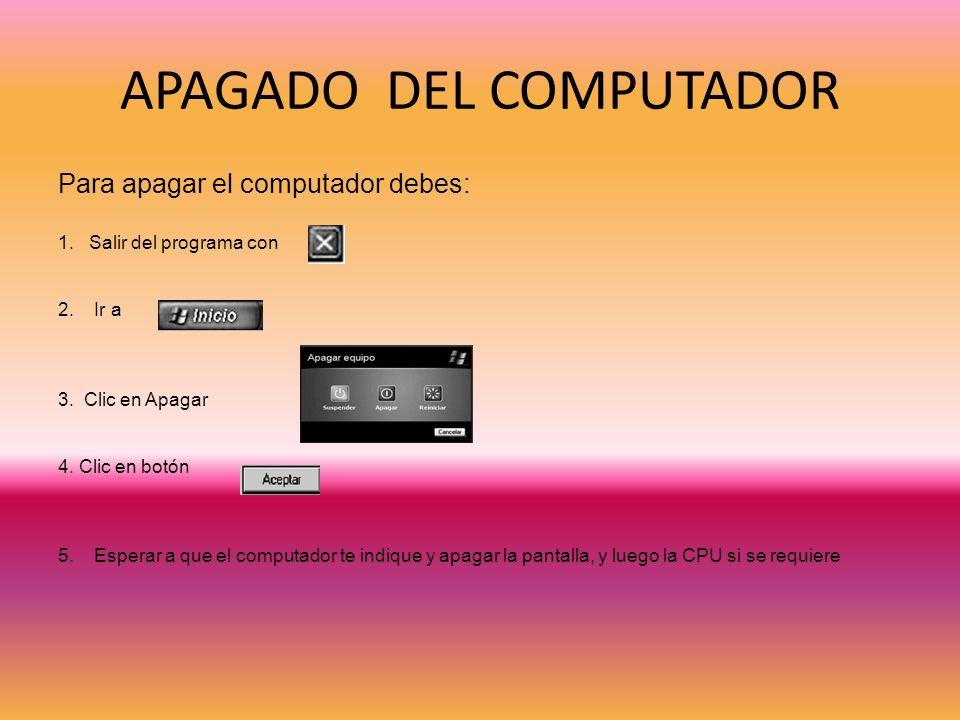 APAGADO DEL COMPUTADOR