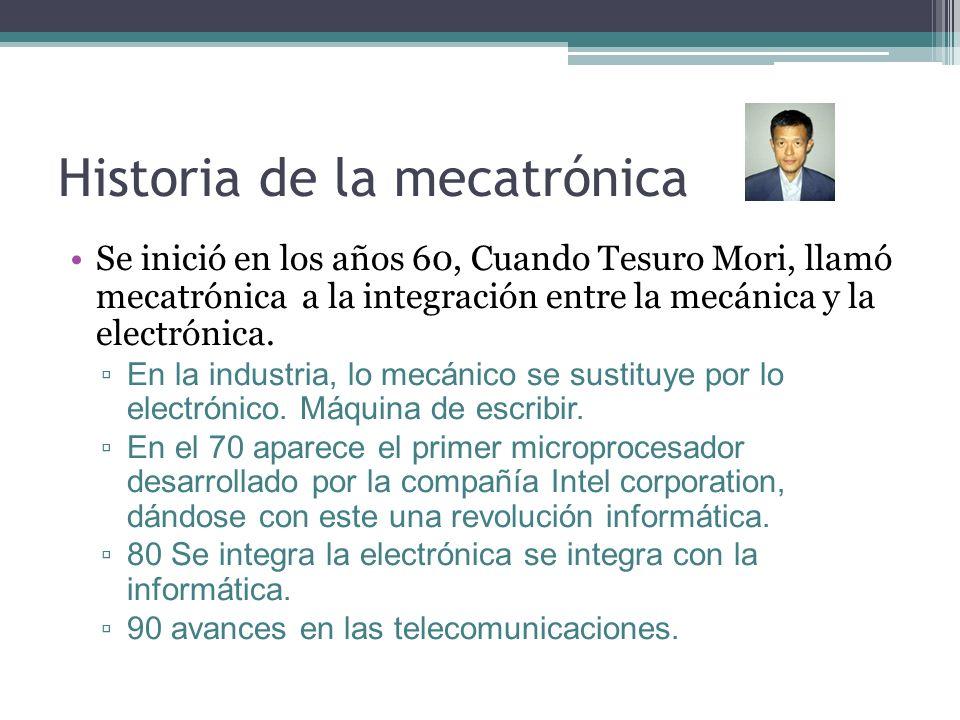 Historia de la mecatrónica