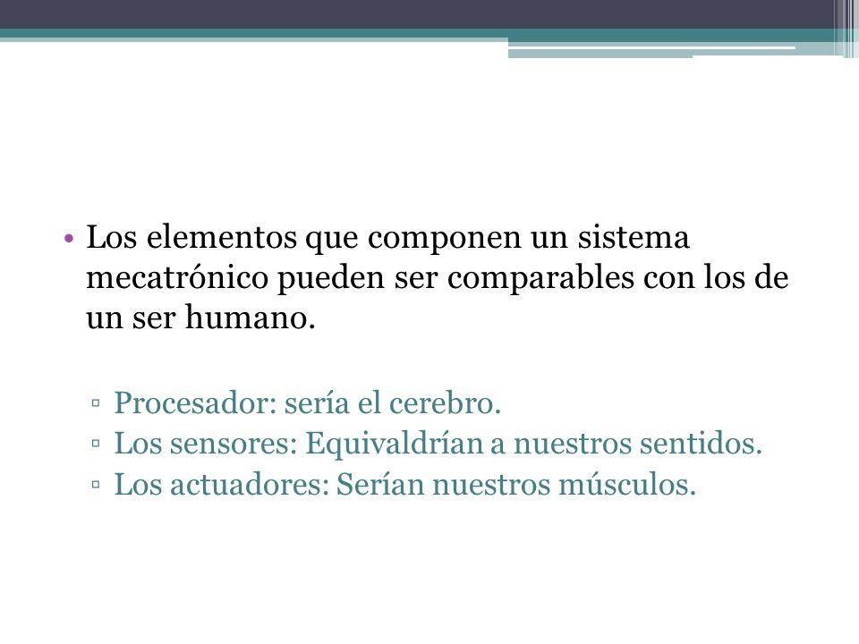 Los elementos que componen un sistema mecatrónico pueden ser comparables con los de un ser humano.