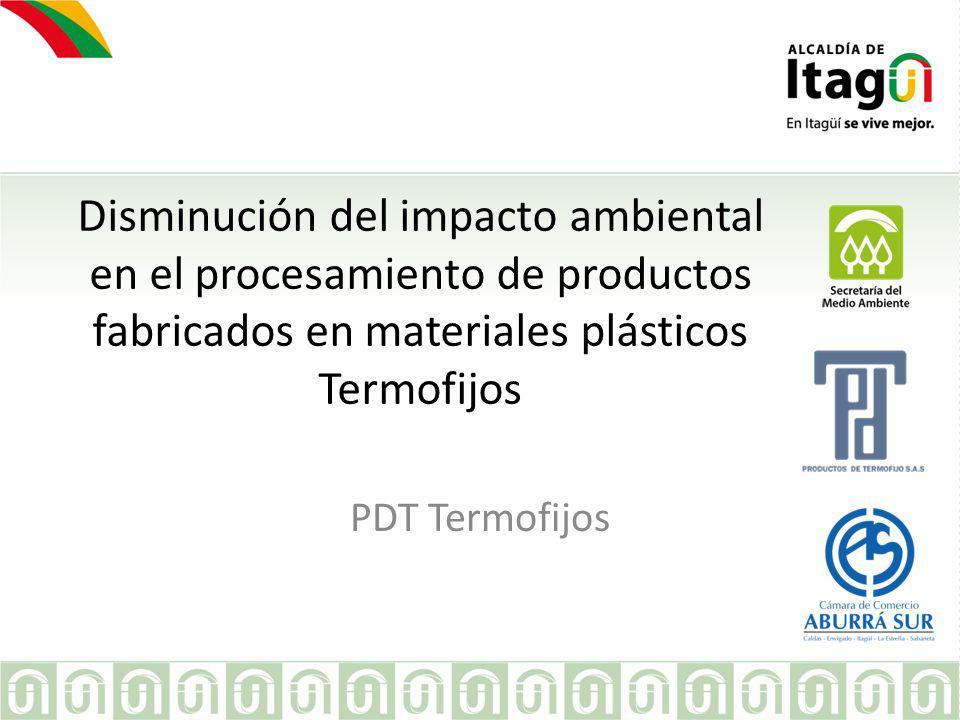 Disminución del impacto ambiental en el procesamiento de productos fabricados en materiales plásticos Termofijos