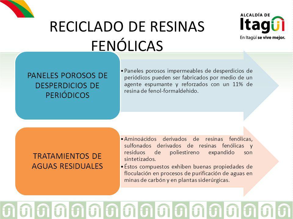 RECICLADO DE RESINAS FENÓLICAS
