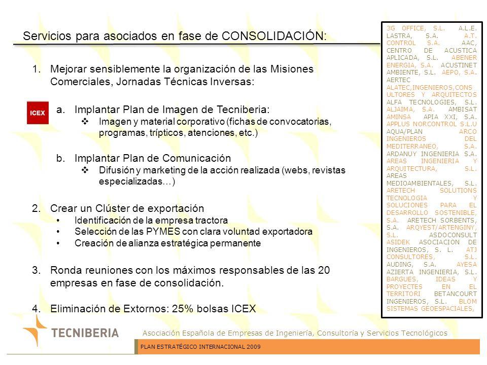 Servicios para asociados en fase de CONSOLIDACIÓN: